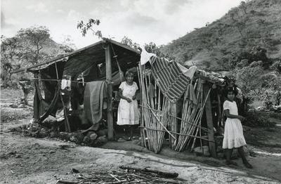 Black and white photograph of Honduras February 1982