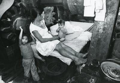 Black and white photograph of El Salvador 1982