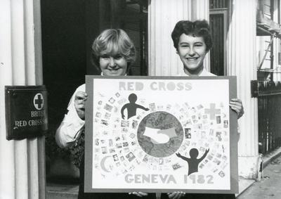 Black and white photograph from Red Cross News 1980s