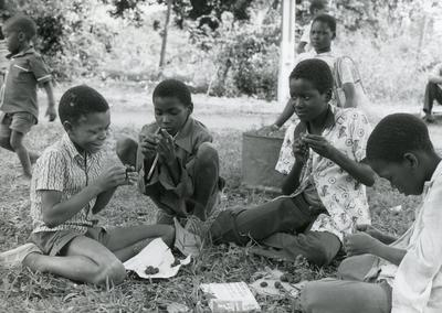 Black and white photograph of ICRC work in Africa