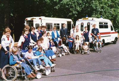 Colour photograph of a holiday for disabled children in Buckinghamshire
