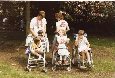Colour photograph of a holiday for disabled children in Thetford Suffolk