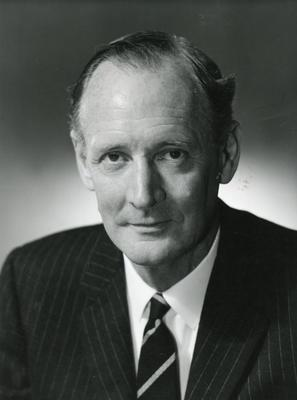 Black and white photograph of the British Red Cross Director General Arthur Brian Hodgson