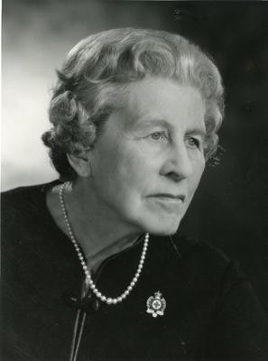 Black and white photograph of Angela Countess of Limerick