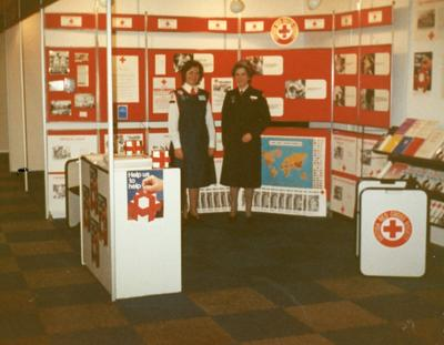 Colour photograph of a Red Cross display