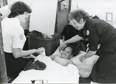 Black and white photograph of Nursing for the Family