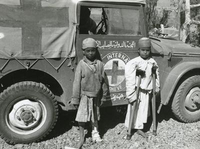 Black and white photograph of Yemen 1970