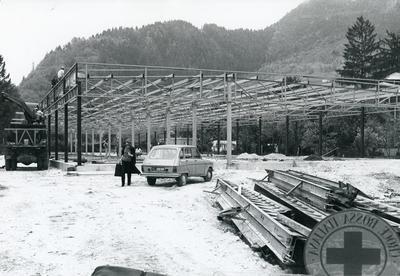 Black and white photograph of the Italian Earthquake 1976