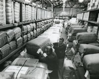 Black and white photograph of relief work following the Algerian Earthquake October 1980