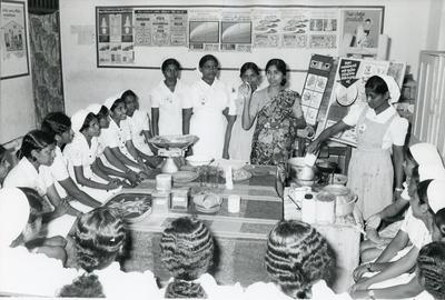 Black and white photograph of the Sri Lankan Red Cross Society