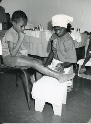 Black and white photograph of Papau New Guinea Red Cross Society
