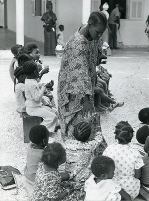 Black and white photograph for World Red Cross Day 1978 - Senegal volunteers in education