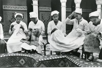Black and white photograph for World Red Cross Day 1981 - Moroccan Red Cross vocational training centre