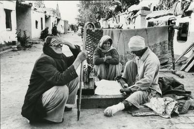 Black and white photograph for World Red Cross Day 1981 - Leprosy sufferers in Ambala City in India