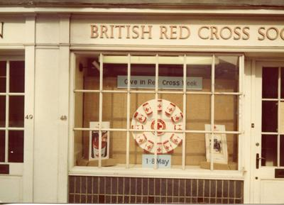 Colour photograph of Red Cross Week 1977 in Newbury Berkshire