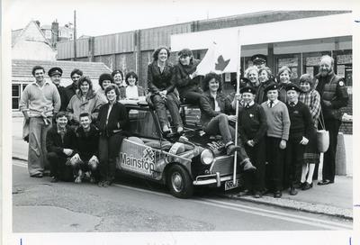 Black and white photograph from Red Cross News of Weymouth branch cadets