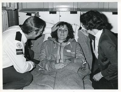 Black and white photograph from Red Cross News