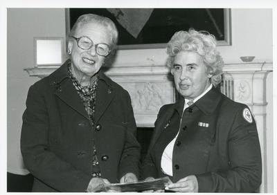 Black and white photograph of Presentations and awards