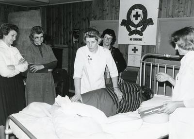 Black and white photograph of an image from 'Nursing for the Family'