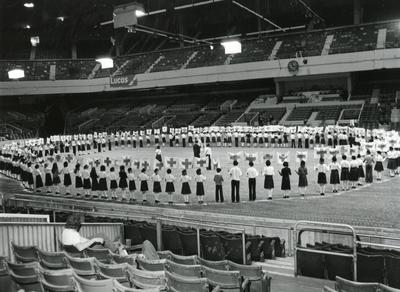 Black and white photograph of Youth and Juniors at the Royal Tournament 1979