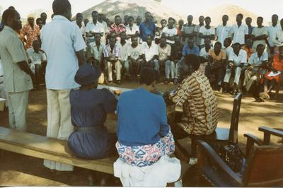 Colour photograph of Primary Health care in Uganda December 1981