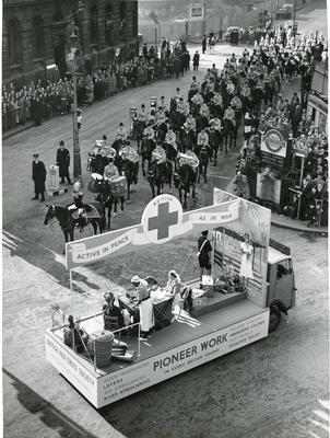Black and white photograph of Lord Mayor's Procession 1952