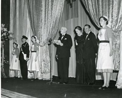 Black and white photograph of Peter Pan premiere 1953
