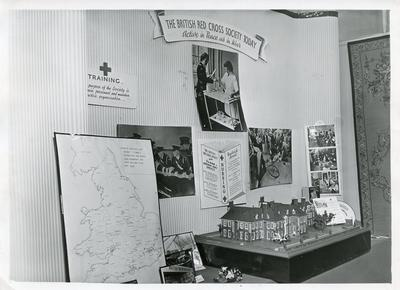 Black and white photograph of Special Exhibition at BRCS NHQ 1951