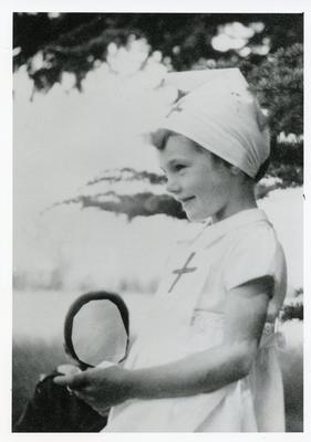 Black and white photograph of the Countess of Limerick at the age of five
