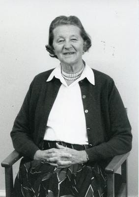 Black and white photograph of Lady Palmer