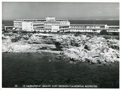 Black and white photograph of Akrotiri RAF Hospital, Cyprus