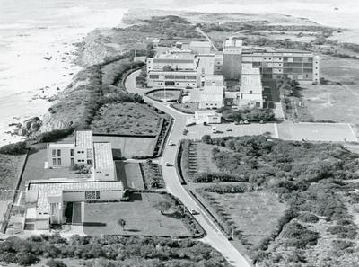 Black and white photograph of Akrotiri RAF Hospital Cyprus