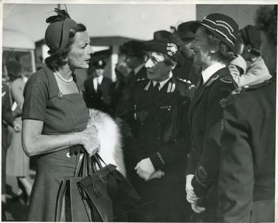 Black and white photograph of Lady Mountbatten