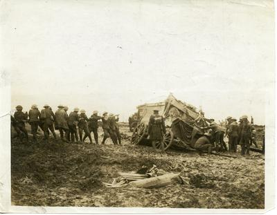 Black and white photograph of the British Western Front during the First World War