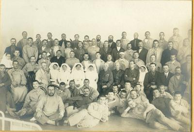 Black and white photograph of Anglo Russian Hospital Petrograd 1917
