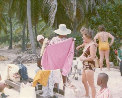 Colour photograph of Red Cross Youth activities with the British Virgin Islands branch