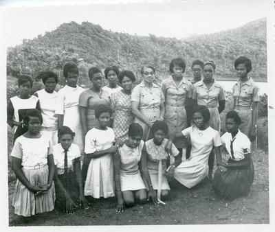 Black and white photograph of activities of the Grenada Junior Red Cross