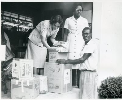 Volunteers from the Jamaican Red Cross