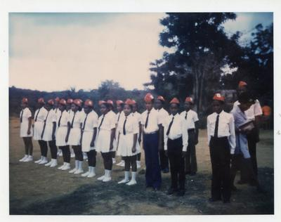Colour photograph of activities of the Jamaican Red Cross
