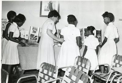 Black and white photograph of a Junior training day at the Jamaican Red Cross