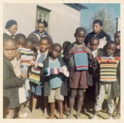 Colour photograph of Junior Red Cross activities in Lesotho