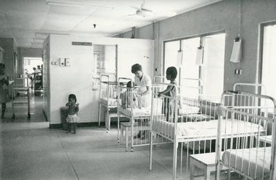 Black and white photograph of the Colony Central Hospital Tanawa