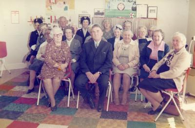Colour photograph of the 'Monday Club' at Fort William Red Cross Hall