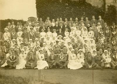 Black and white photograph of Haigh Lawn Hospital, Altrincham Cheshire during the First World War