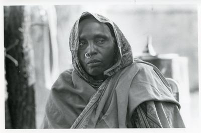 Black and white photograph of