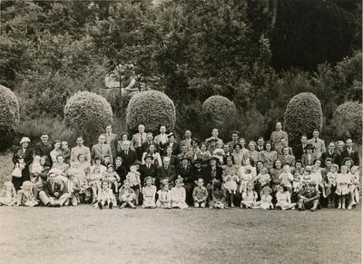 Party at Lexden Park, Colchester, 1948