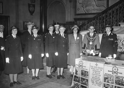 HRH The Princess Royal visits Red Cross Depots on Flag Day, 1948