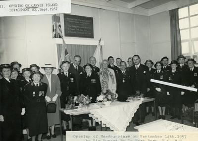 Opening of Canvey Island Detachment Headquarters, 1957
