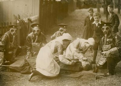 First Aid Practice during the First World War