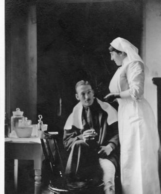 Photographs relating to Coombe Lodge Auxiliary Hospital, Great Warley